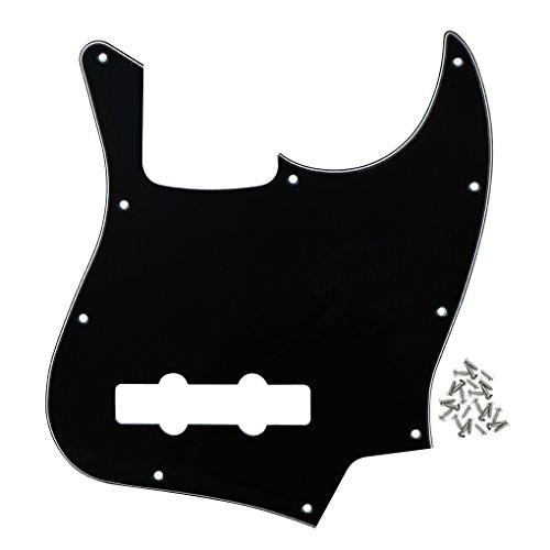 rd Teller für Jazz Bass E-Gitarre mit Befestigungsschrauben, Schwarz / weiß / schwarz (J-bass)