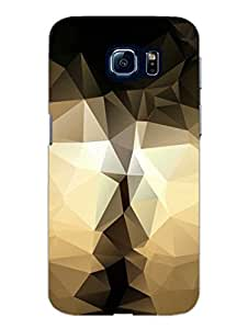 Samsung S6 Cover - Gold Black Abstract Art - Designer Printed Hard Shell Case