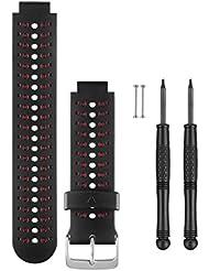 Garmin Wechsel-/Ersatzarmband für Forerunner 230/235/630 - Schwarz/Marsala, One Size