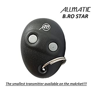 ALLMATIC B.RO STAR remote control, 433,92Mhz 2-channel Rolling code transmitter. The smallest transmitter on the market!!! Range up to 60m!!!