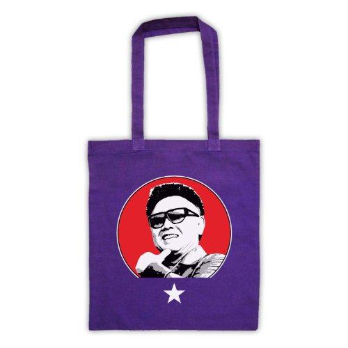 Kim Jong Il Retro Tote Bag Viola