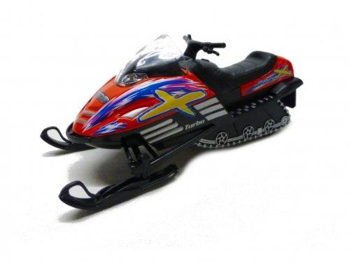 Schneemobil mit Rückzugmotor rot Snow Turbo 800