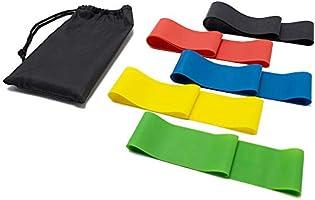 5 قطع/مجموعة من اربطة التمدد من اللاتكس للياقة البدنية بها 5 مستويات للتمرين في الجيم او اليوجا او مع معدات التمرين الاخرى