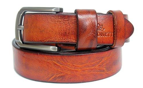 Fia Monetti   Cinturón de cuero para mujer  con moderna hebilla  ancho 2 8 cm
