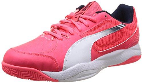 Puma Evospeed Indoor 5-3, Chaussures de football homme Rose (Plasma/White/Peacoat)