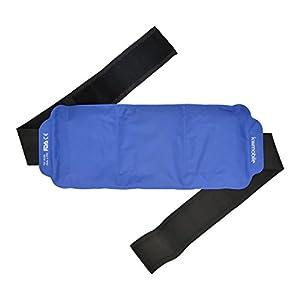 kwmobile Gel Kompresse kalt warm – Wärmekissen mit Gürtel für Nacken Rücken Mikrowelle – Kühl Kissen Cold Pack Kühlakku – wiederverwendbar