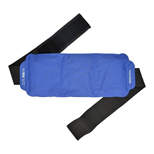 kwmobile Compresa de gel frío y caliente - reutilizable - universal cinturón de gel para los dolores de espalda, hombros, brazos, riñones, barriga