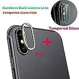 Gusspower Cámara Protector de Lente para iPhone XS/XS MAX, Aleación de Aluminio Anillo de Metal iPhone XS/XS MAX Camera Lente Funda Protectora y Camera Lente Protector de Pantalla (Dorado, iPhone XS)
