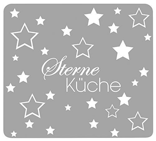 Wenko 2712975500 Multi-Platte Sterneküche für Glaskeramik Kochfelder, Schneidbrett, Glas, grau