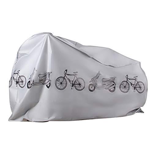 Nozdom Copertura Bicicletta Impermeabile, Telo Bici Copribici Copri Custodie per Bicicletta Coprimoto Protezione Antipolvere Anti UV- Grigio