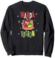 Marvel WandaVision Wanda & Vision Retro TV Artwork Suda