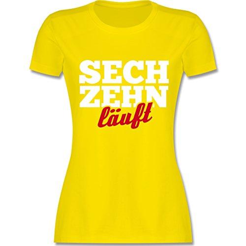 urtstag läuft - XL - Lemon Gelb - L191 - Damen Tshirt und Frauen T-Shirt ()