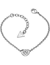 GUESS Armband CRYSTALS OF LOVE Armkette Messing Silber Damen Schmuck Zirkonia NEU