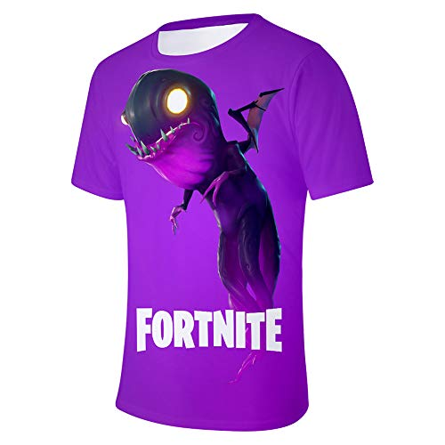 WQWQ Sommer Männer und Frauen T-Shirt Shirt Kinder 3D Digitaldruck Kurzarm E-Sport Intruder Raptor Fortress Night Fan Kostüm,B,XXL