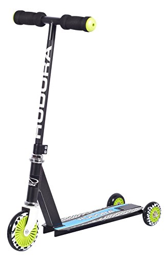 HUDORA Kinder-Roller Evolution Boy Scooter Kinder, Schwarz, Umstellbarer Scooter für Kinder, 22015