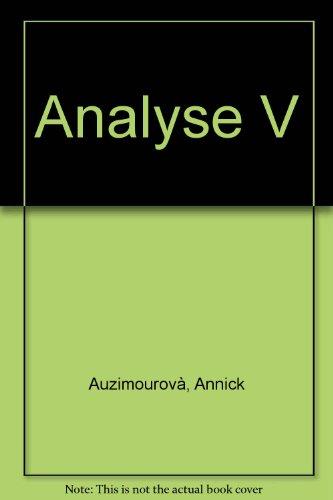 ANALYSE. Volume 5, Travaux dirigés de mathématiques
