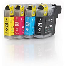 4x Compatible XL tinta cartuchos reemplazo for BROTHER LC-123 BK/C/M/Y con CHIP   1x LC-123 BK/C/M/Y   para BROTHER DCP-J752DW; MFC-J870DW/ J6920DW / J4110 DW /J4410 DW/ J4510 DW/ J4610 DW/ J4710 DW