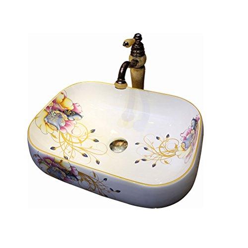 Bathtub LUYIASI- Aufsatzbecken Waschbecken Keramik Künstler Mode Waschbecken (56x43x15cm) -