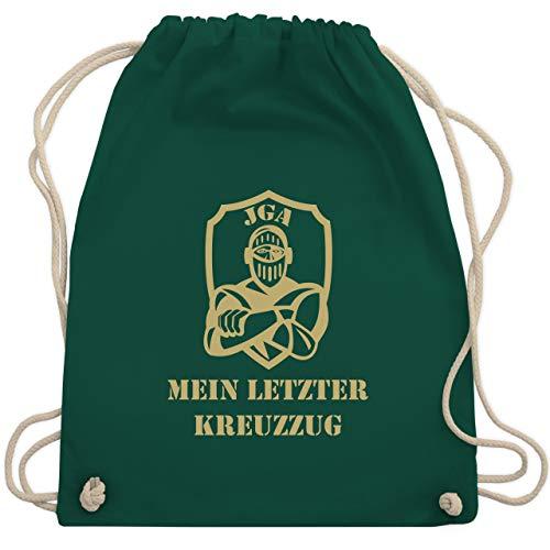 JGA Junggesellenabschied - Mein letzter Kreuzzug - Unisize - Dunkelgrün - WM110 - Turnbeutel & Gym ()