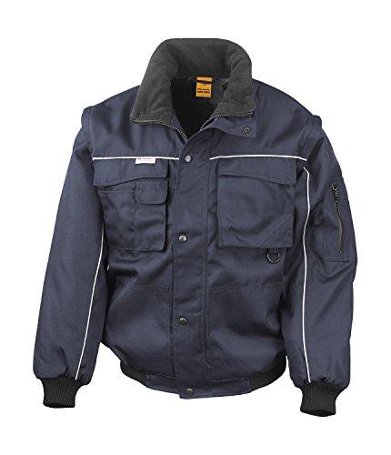 RT71 Workguard Heavy Duty Jacke Arbeitsjacke winddicht wasserabweisend, Farbe:Navy-Navy;Größen:L L,Navy-Navy (Nylon-reißverschluss-taschen)
