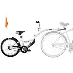 Weeride Co-Pilot Bicicleta Tamden Remolque Para Niños, Blanco