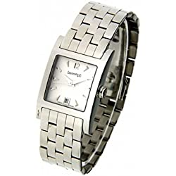 Eberhard Women Clock Quartz 61007 CA2 (Rechargeable) quandrante White Strap Stainless Steel