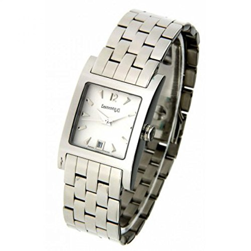 Eberhard Women Clock Quartz 61007CA2(Rechargeable) quandrante White Strap Stainless Steel