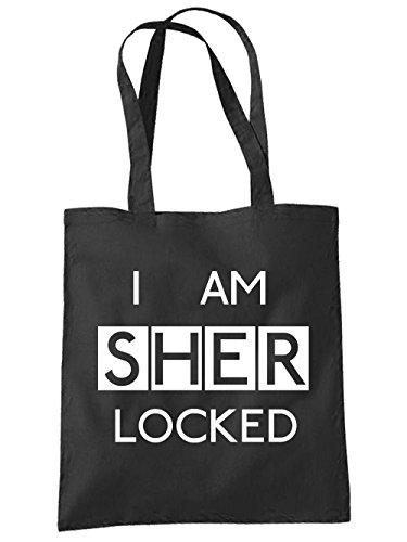 Tote Bag In Panno Nero Sherlocked Nero