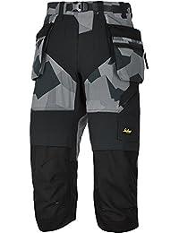 Snickers Workwear flexiwork Pantalón Pirata con bolsillos, 1pieza, 58, camuflaje de color gris, 69058704058