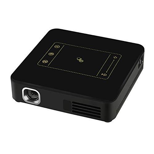 QLPP Mini-Smart-Projektor mit Android 7.1.2 OS WiFi Bluetooth 300 Zoll Projektionsbereich unterstützen Eshare Airplay MiraCast TF-Karte bis 32G und eingebauten Lautsprecher