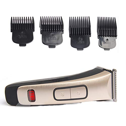 Hair Clipper & Trimmer for Men-Akku-Schnell-LadeBeard-Trimmer-2 in 1 Wet & Dry Hair Cutting Kit mit LCD-Display 4 Guide Combs
