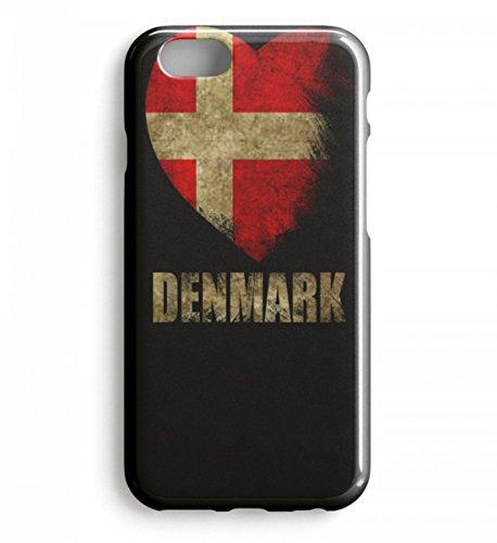 Shirtee Hochwertiges Case - Dänemark Herz I Love Denmark