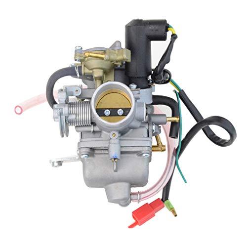 Goofit carburatore moto, 30mm pz30 con avviamento elettrico 4 tempi pit bike cross per gy6 250cc cf250 cn250 ch125 ch150 scooter atv quad pocket bike motore go kart argento