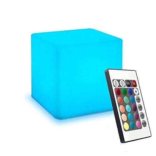 Nachtlicht Kinder, Nachtlicht Baby, Stimmungslicht, 4-inch, Farbwechsel, Fernbedienung, Einstellbare Helligkeit und Farbe, Wiederaufladbare Batterie, PE-Kunststoff, Baby sicher