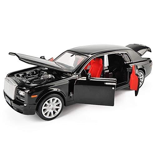 GUANGYING 1/32 Rolls Royce Phantom Alloy Diecast Automodell Spielzeug Metall Fahrzeug Spielzeugauto Modell Schwarz Erweiterte Limousine Sammlung 6 Türen - Phantom Modell Rolls-royce