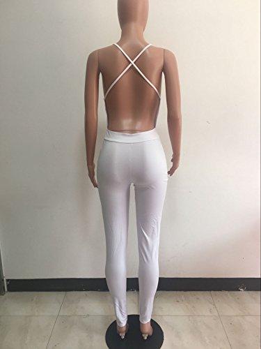 Combinaison Femme IHRKleid® Ceinture Ensemble Jeans/Pantalons Blanc