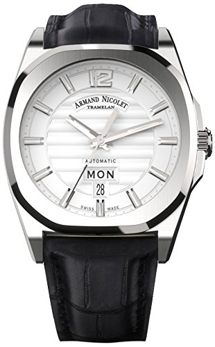armand-nicolet-unisex-automatic-watch-with-silver-dial-analogue-display-and-black-leather-strap-a650