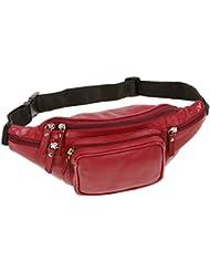 Bolsa de cinturón LEAS, Piel auténtica, rojo - ''LEAS Travel-Line''