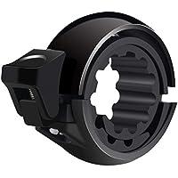Yissvic Fahrradklingel, Q Design Fahrradglocke 90dB Robustes Leichtes Fahrradkling für Lenker-Ø22-31mm, Schwarz