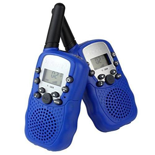 VINE 2X T-388 NIñOS WALKIE-TALKIE UHF 446MHZ 8 CANALES 0 5W CON PANTALLA LCD Y LINTERNA INCORPORADO RADIO DE JUGUETE PORTATIL Y AFICIONADO