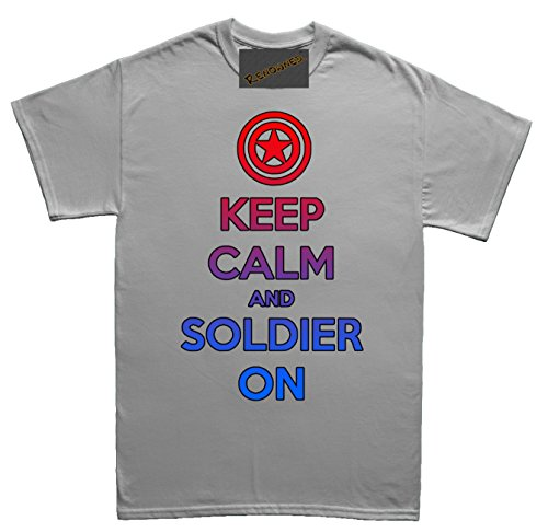 Renowned Keep calm and soldier on Unisex - Kinder T Shirt Grau