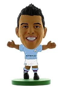 Soccerstarz- Figura de acción Sergio agüero-Manchester City, Color Verde (1)