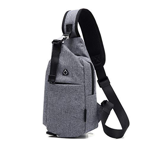 VIccoo Multifunktionale Brusttasche Schultertasche Outdoor One Shoulder Umhängetasche für Männer Wandern Radfahren Camping Reisen Verwenden Supplies - Grau