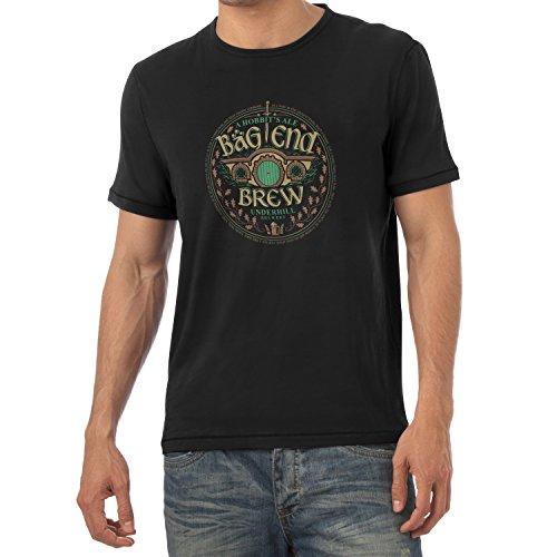 TEXLAB - Bäg End Brew - Herren T-Shirt Schwarz