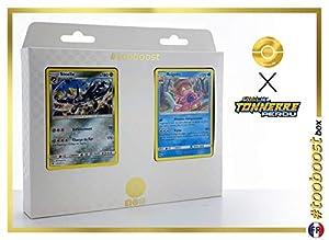 Steelix 125/214 Y Roigada (Slowking) 55/214 - #tooboost X Soleil & Lune 8 Tonnerre Perdu - Box de 10 Cartas Pokémon Francés + 1 Goodie Pokémon