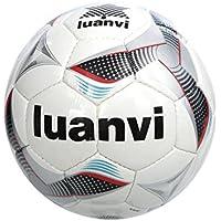 Luanvi Balón Cup T5, Unisex, (Negro/Rojo), 5