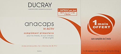 Ducray anacaps tri activ package 3x30