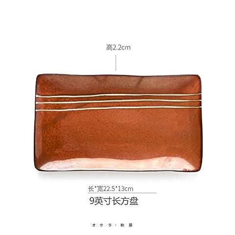 Kreative,retro,keramik geschirr/rechteckige/fisch/sushi-A