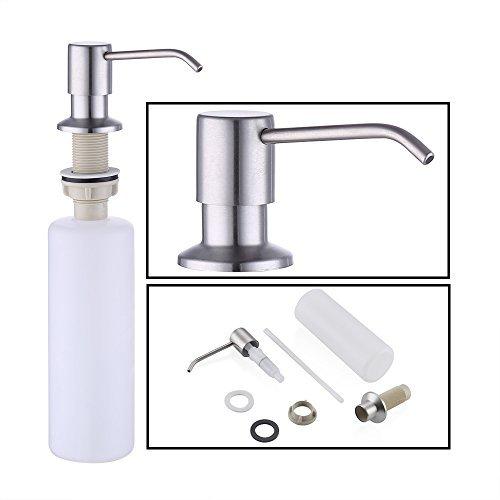 KES Dispensador de Jabón con Bomba de 18-8 Acero Inoxidable y Botella de PP, Cepillado, PSD1-2