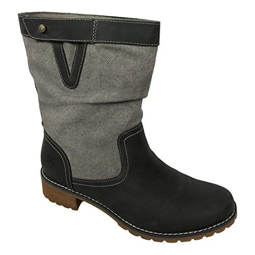 Timberland Women s Wenham Leather   Fabric Mid Boots  8  Dark Grey